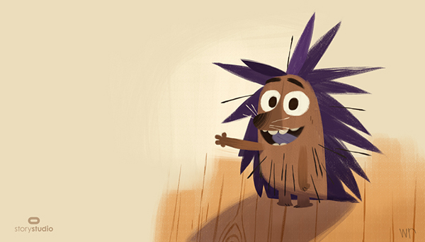 Henry the Hedgehog, drawn by Willie Real for Oculus Story Studio